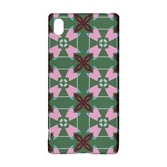 Pink brown flowers pattern     			Sony Xperia Z3+ Hardshell Case by LalyLauraFLM