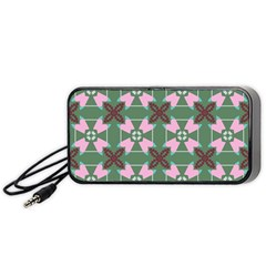 Pink Brown Flowers Pattern     Portable Speaker by LalyLauraFLM