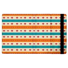 Rhombus And Stripes Pattern      apple Ipad 2 Flip Case by LalyLauraFLM