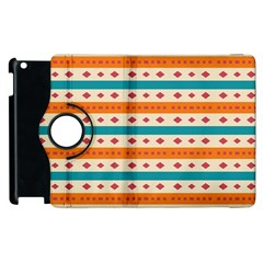 Rhombus And Stripes Pattern      			apple Ipad 2 Flip 360 Case by LalyLauraFLM