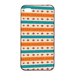 Rhombus And Stripes Pattern      			apple Iphone 4/4s Seamless Case (black) by LalyLauraFLM