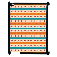 Rhombus And Stripes Pattern      			apple Ipad 2 Case (black) by LalyLauraFLM
