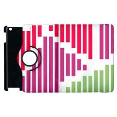 Vertical Stripes    apple Ipad 2 Flip 360 Case by LalyLauraFLM