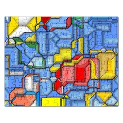 3d Shapes 			jigsaw Puzzle (rectangular) by LalyLauraFLM