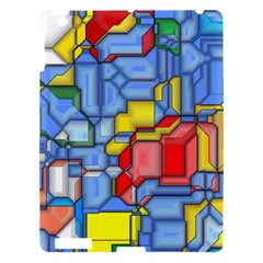 3d Shapes 			apple Ipad 3/4 Hardshell Case by LalyLauraFLM