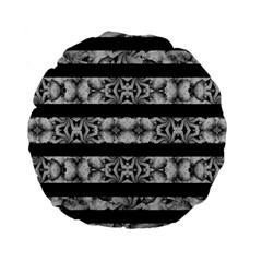 Alien Seamless Stripes Standard 15  Premium Flano Round Cushions by dflcprints