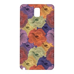 Vintage Floral Collage Pattern Samsung Galaxy Note 3 N9005 Hardshell Back Case by dflcprints