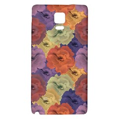 Vintage Floral Collage Pattern Galaxy Note 4 Back Case by dflcprints