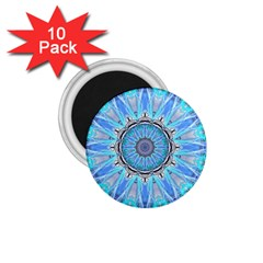 Sapphire Ice Flame, Light Bright Crystal Wheel 1.75  Magnets (10 pack)  by DianeClancy