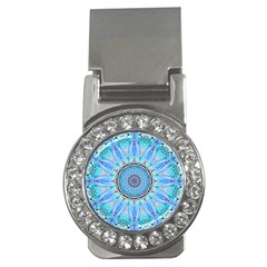 Sapphire Ice Flame, Light Bright Crystal Wheel Money Clips (cz)  by DianeClancy