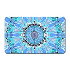 Sapphire Ice Flame, Light Bright Crystal Wheel Magnet (rectangular) by DianeClancy