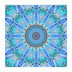 Sapphire Ice Flame, Light Bright Crystal Wheel Medium Glasses Cloth by DianeClancy