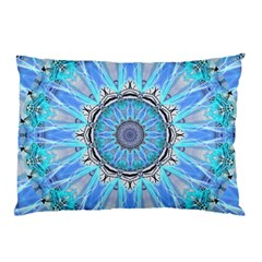 Sapphire Ice Flame, Light Bright Crystal Wheel Pillow Case by DianeClancy