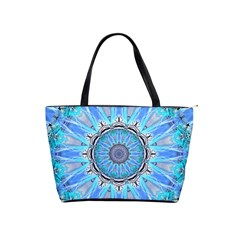 Sapphire Ice Flame, Light Bright Crystal Wheel Shoulder Handbags by DianeClancy