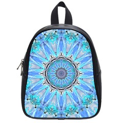 Sapphire Ice Flame, Light Bright Crystal Wheel School Bags (small)  by DianeClancy