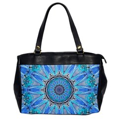 Sapphire Ice Flame, Light Bright Crystal Wheel Office Handbags by DianeClancy