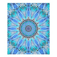 Sapphire Ice Flame, Light Bright Crystal Wheel Shower Curtain 60  X 72  (medium)  by DianeClancy