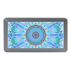 Sapphire Ice Flame, Light Bright Crystal Wheel Memory Card Reader (mini) by DianeClancy