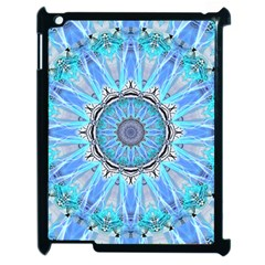 Sapphire Ice Flame, Light Bright Crystal Wheel Apple Ipad 2 Case (black) by DianeClancy