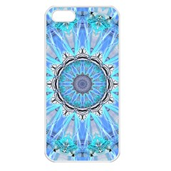 Sapphire Ice Flame, Light Bright Crystal Wheel Apple Iphone 5 Seamless Case (white) by DianeClancy