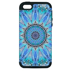 Sapphire Ice Flame, Light Bright Crystal Wheel Apple Iphone 5 Hardshell Case (pc+silicone) by DianeClancy