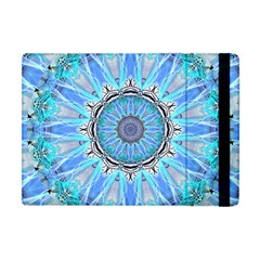 Sapphire Ice Flame, Light Bright Crystal Wheel Apple Ipad Mini Flip Case by DianeClancy
