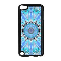 Sapphire Ice Flame, Light Bright Crystal Wheel Apple Ipod Touch 5 Case (black) by DianeClancy