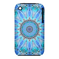 Sapphire Ice Flame, Light Bright Crystal Wheel Apple Iphone 3g/3gs Hardshell Case (pc+silicone) by DianeClancy