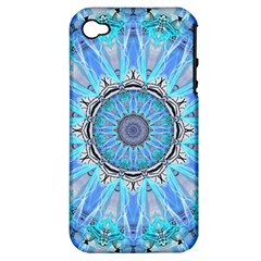 Sapphire Ice Flame, Light Bright Crystal Wheel Apple Iphone 4/4s Hardshell Case (pc+silicone) by DianeClancy