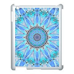 Sapphire Ice Flame, Light Bright Crystal Wheel Apple Ipad 3/4 Case (white) by DianeClancy