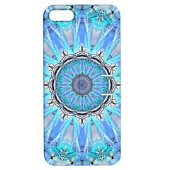 Sapphire Ice Flame, Light Bright Crystal Wheel Apple Iphone 5 Hardshell Case With Stand by DianeClancy