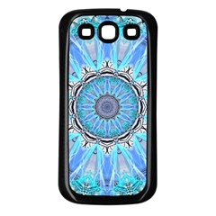 Sapphire Ice Flame, Light Bright Crystal Wheel Samsung Galaxy S3 Back Case (black) by DianeClancy