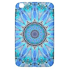 Sapphire Ice Flame, Light Bright Crystal Wheel Samsung Galaxy Tab 3 (8 ) T3100 Hardshell Case  by DianeClancy