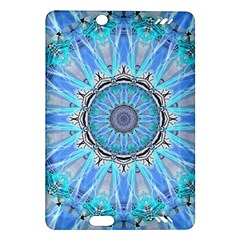 Sapphire Ice Flame, Light Bright Crystal Wheel Amazon Kindle Fire Hd (2013) Hardshell Case by DianeClancy