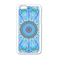 Sapphire Ice Flame, Light Bright Crystal Wheel Apple Iphone 6/6s White Enamel Case by DianeClancy