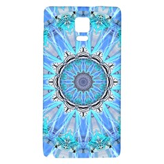 Sapphire Ice Flame, Light Bright Crystal Wheel Galaxy Note 4 Back Case by DianeClancy