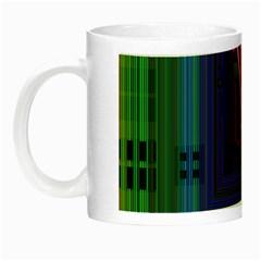 Jewel City, Radiant Rainbow Abstract Urban Night Luminous Mugs by DianeClancy
