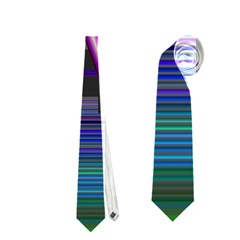 Jewel City, Radiant Rainbow Abstract Urban Neckties (two Side)  by DianeClancy