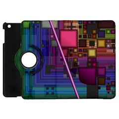 Jewel City, Radiant Rainbow Abstract Urban Apple Ipad Mini Flip 360 Case by DianeClancy