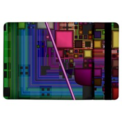 Jewel City, Radiant Rainbow Abstract Urban Ipad Air Flip by DianeClancy