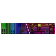 Jewel City, Radiant Rainbow Abstract Urban Flano Scarf (small) by DianeClancy