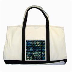 Looking Out At Night, Abstract Venture Adventure (venture Night Ii) Two Tone Tote Bag by DianeClancy