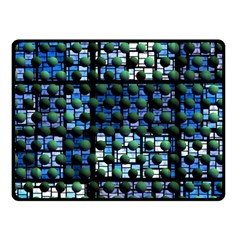 Looking Out At Night, Abstract Venture Adventure (venture Night Ii) Fleece Blanket (small) by DianeClancy