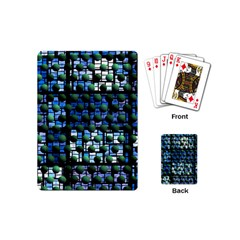 Looking Out At Night, Abstract Venture Adventure (venture Night Ii) Playing Cards (mini)  by DianeClancy