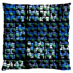 Looking Out At Night, Abstract Venture Adventure (venture Night Ii) Large Cushion Case (one Side) by DianeClancy