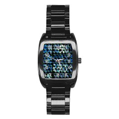 Looking Out At Night, Abstract Venture Adventure (venture Night Ii) Stainless Steel Barrel Watch by DianeClancy