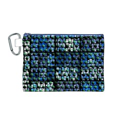 Looking Out At Night, Abstract Venture Adventure (venture Night Ii) Canvas Cosmetic Bag (M) by DianeClancy