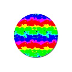 Colorful Digital Abstract  Magnet 3  (round) by dflcprints