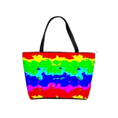 Colorful Digital Abstract  Shoulder Handbags by dflcprints