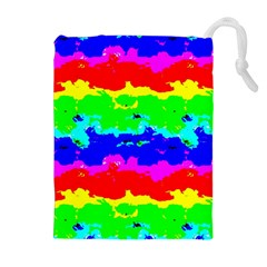 Colorful Digital Abstract  Drawstring Pouches (extra Large) by dflcprints